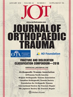 Cover of Journal of Orthopaedic Trauma January 2018